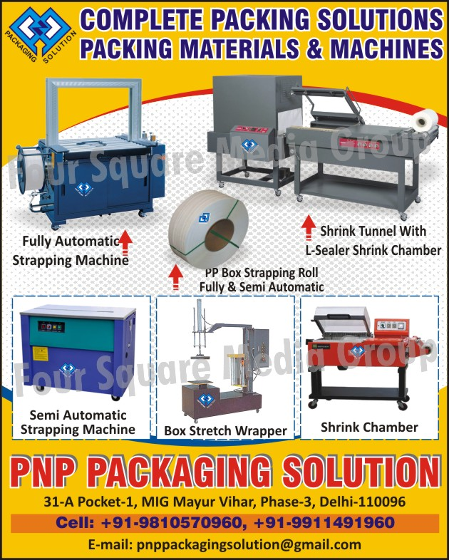 Fully Automatic Strapping Machines, Shrink Tunnel with L Sealer Shrink Chamber, PP Box Strapping Rolls, Semi Automatic Strapping Machines, Box Stretch Wrapper Machines, Shrink Chambers, Box Stretch Wrapping Machines