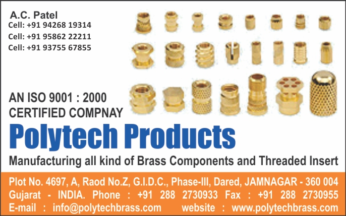 Brass Components, Threaded Insert,Cable Glands, Nuts, Bolts, Fasteners, Pneumatics Parts, Sanitary Parts, Electrical Wire, Electrical Accessories, Conduit Cable Glands