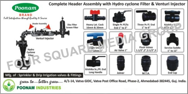 PP Agricultural Ball Valves, HDPE Agricultural Ball Valves, PP Chemical Ball Valves, HDPE Chemical Ball Valves, PP Fittings, HDPE Fittings, Sprinkler Irrigation Valves, Drip Irrigation Valves, Sprinkler Irrigation Fittings, Drip Irrigation Fittings, Header Assembly, Disc Filter, Screen Filter, Venturi Injector, Hydro Cyclone Filter, Air Valve, Flush Valve, Service Saddle, MTA, Jointer, End Cap, Nozzle