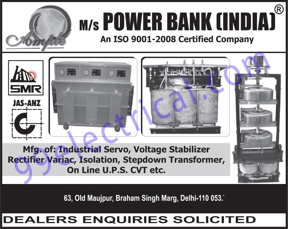 Industrial Servo, Voltage Stabilizer Rectifier Variac, Isolation, Step Down Transformers, On Line UPS, CVT, Continuously variable transmission ,Electrical Products, Inverter, Transformer, Voltage Stabilizer, Stabilizer, Step Down Transformer, UPS