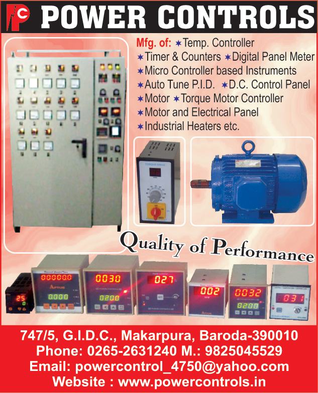Temperature Controllers, Timers, Counters, Digital Panel Meters, Micro Controller Instruments, Auto Tune PID, DC Control Panels, Motors, Torque Motor Controllers, Electrical Panels, Industrial Heaters, Motor Panels, Control Panels, Motors