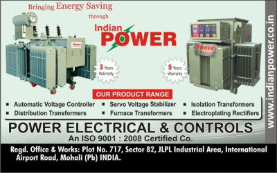 Distribution Transformers, Automatic voltage Controllers, Servo Voltage Stabilizers, Furnace Transformers, Isolation Transformers, Electroplating Rectifiers