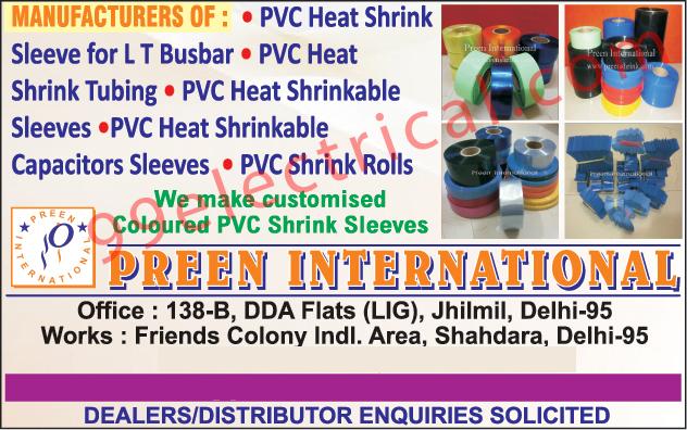 LT Busbar PVC Heat Shrink Sleeve, PVC Heat Shrink Tubing, PVC Heat Shrinkable Sleeves, PVC Heat Shrinkable Capacitors Sleeves, PVC Shrink Rolls, Coloured PVC Shrink Sleeves,Customised PVC Shrink Sleeves
