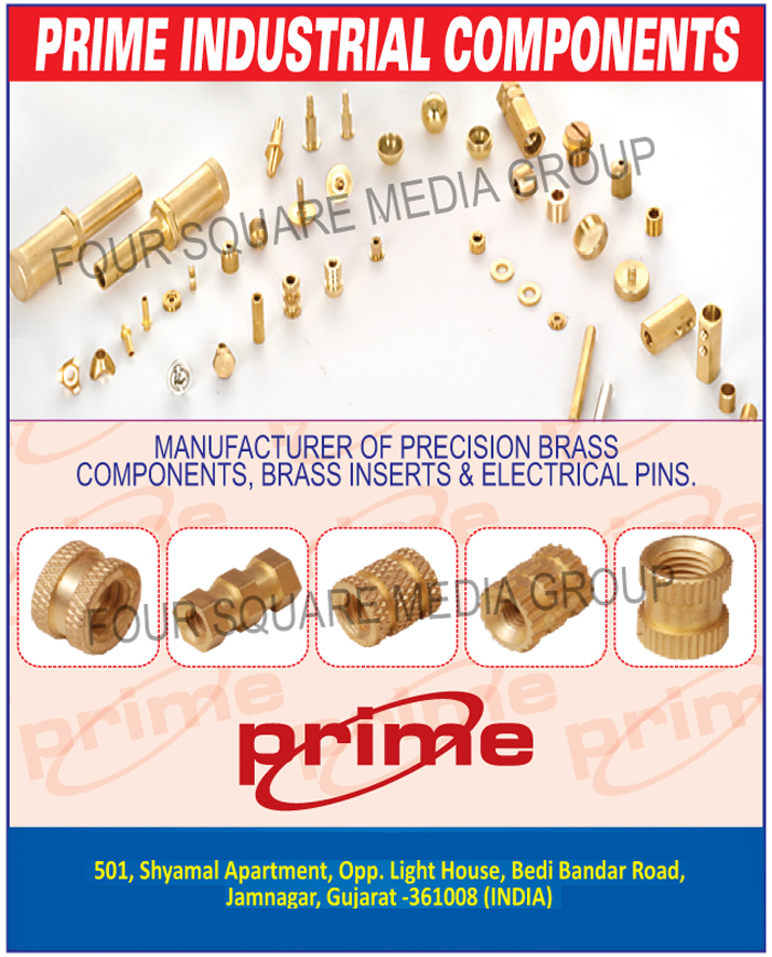 Precision Brass Components, Brass Inserts, Brass Electrical Pins