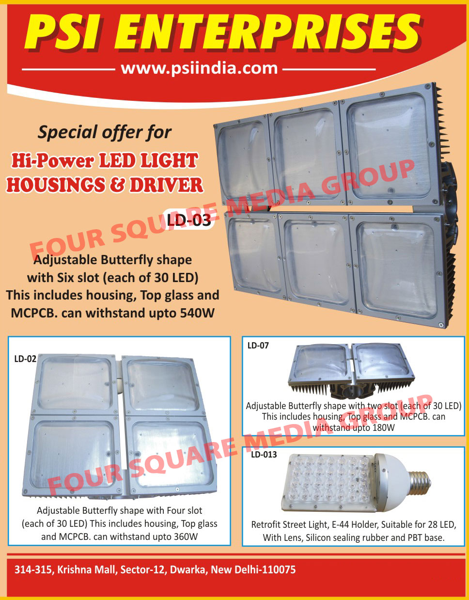 Led Light Housings, Led Drivers,Drivers, Street Lights, Down Lights