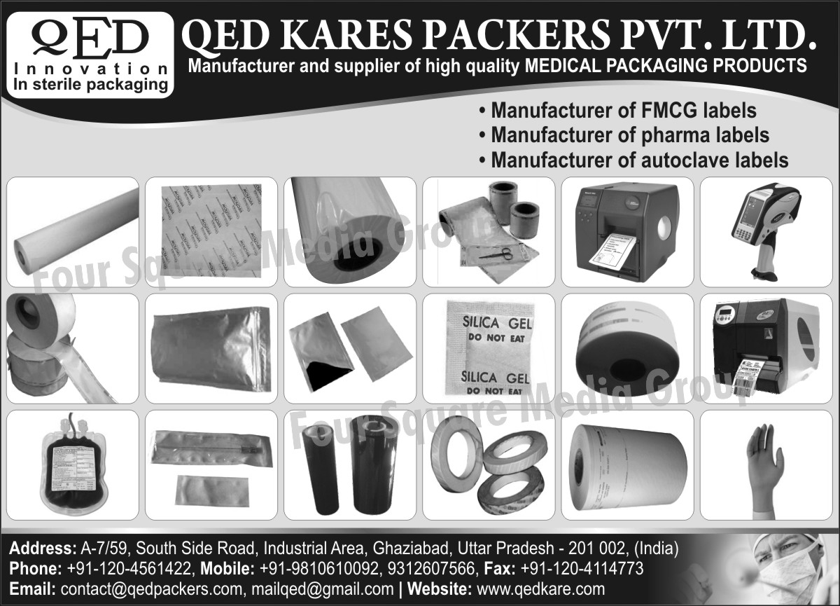 FMCG Labels, Pharma Labels, Autoclave Labels, Medical Packaging Products