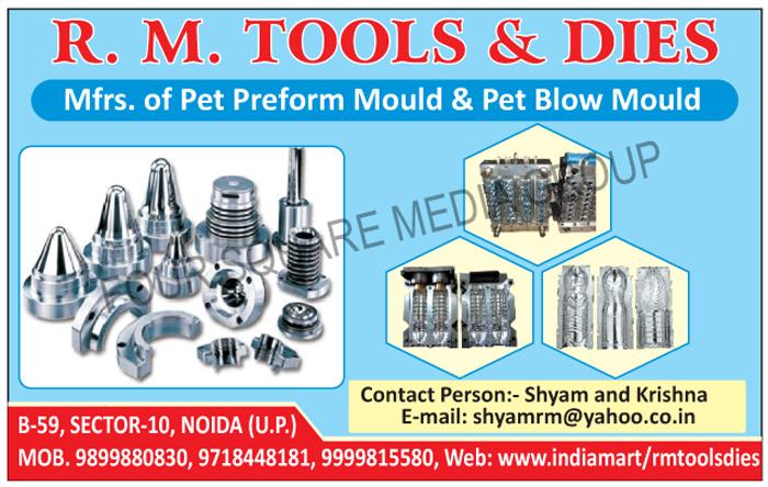 Pet Preform Moulds, Pet Preform Molds, Pet Blow Moulds, Pet Blow Molds