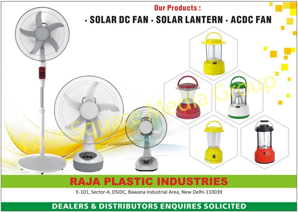 Solar DC Fans, Solar Lanterns, AC Fans, DC Fans