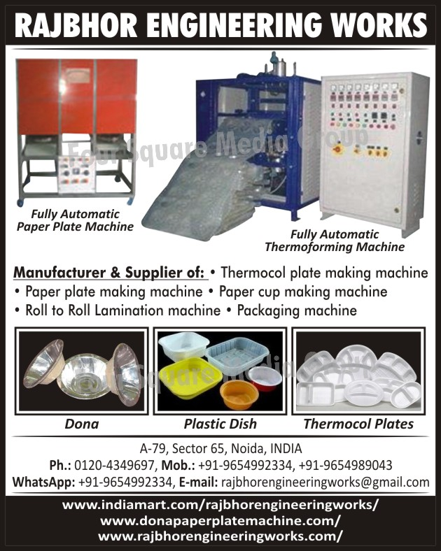 Fully Automatic Paper Plate Machines Fully Automatic Thermoforming Machines Thermocol Plate Making Machines  sc 1 st  99FoodProcessing.com & Fully Automatic Paper Plate Machines | Fully Automatic Thermoforming ...