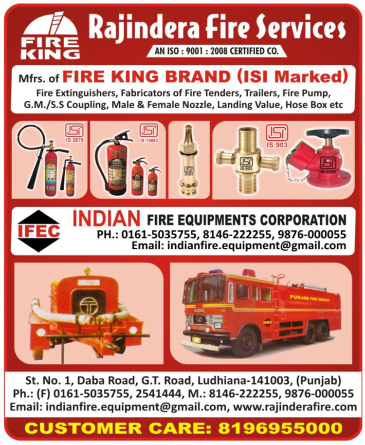 Fire Safety Products, Fire Extinguishers, Fabricators of Fire Tenders, Trailers, Fire Pumps, GM Couplings, SS Couplings, Male Nozzles, Female Nozzles, Landing Values, Hose Boxes