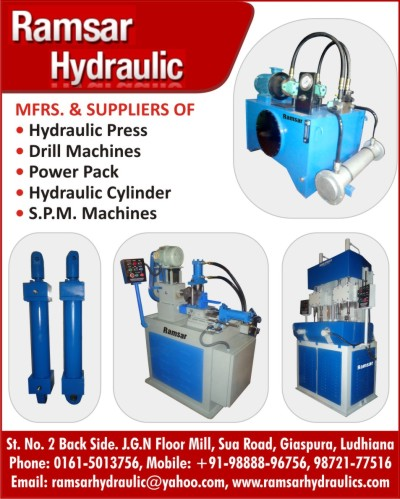Hydraulic Presses, Drill Machines, Power Packs, Hydraulic Cylinder, Special Purpose Machines