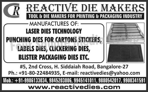 Carton Sticker Punching Dies, Labels Dies, Clicking Dies, Blister Packaging Dies, Printing Industry Die Makers, Packaging Industry Die Makers