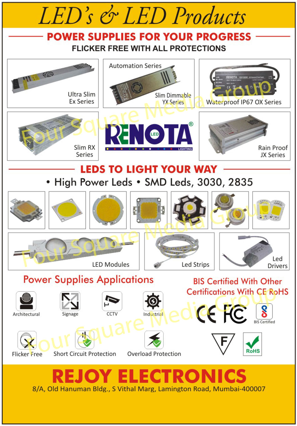 Leds, Led Products, Power Supplies, High Power Leds, SMD Leds, Led Modules, Led Strips, Led Drivers