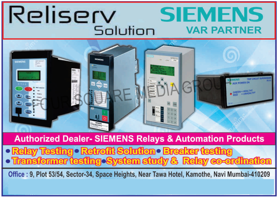 Relay Testing Services, Relay Retrofitting Services, Breaker Testing Services, Transformer Testing Services, Relay Co-ordination Services