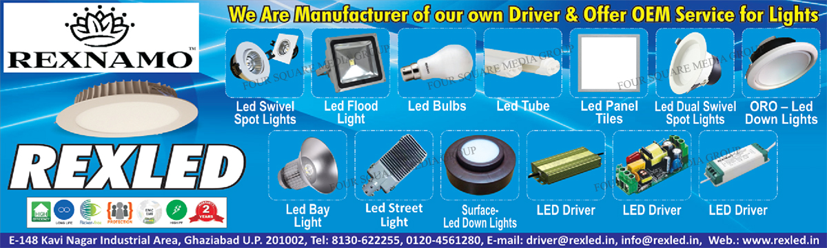 Led Swivel Spot Lights, Led Flood Lights, Led Bulbs, Led Tubes, Led Panel Tiles, Led Dual Swivel Spot Lights, Led Down Lights, Led Bay Lights, Led Street Lights, Led Drivers