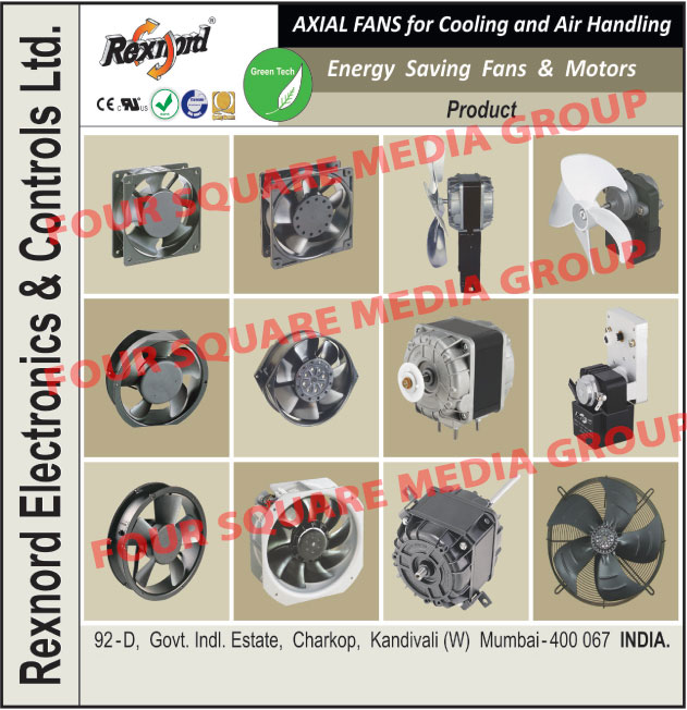 Axial Fans, Energy Saving Fans, Energy Saving Motors,Motors