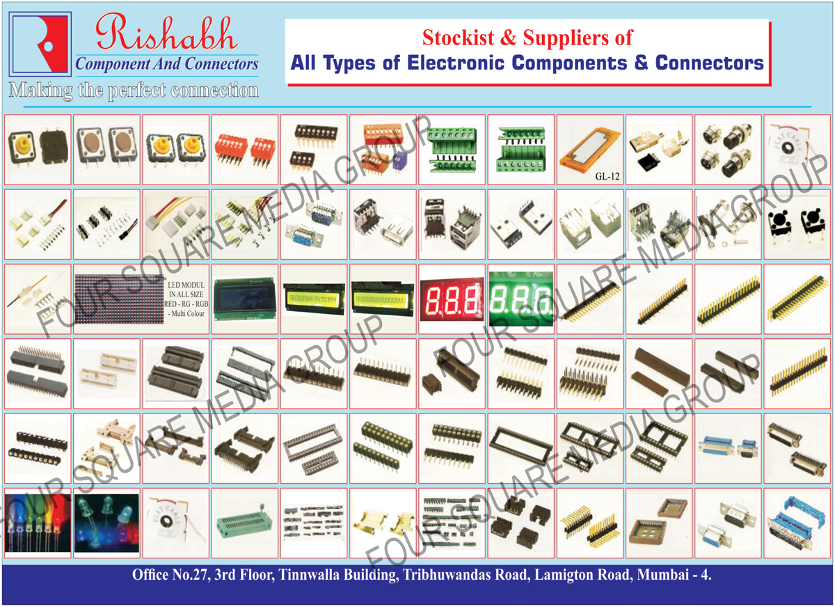Electronic Components, Connectors, LED Module,