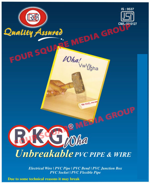Unbreakable PVC Pipes, Unbreakable PVC Wires, PVC Pipes, PVC Wires