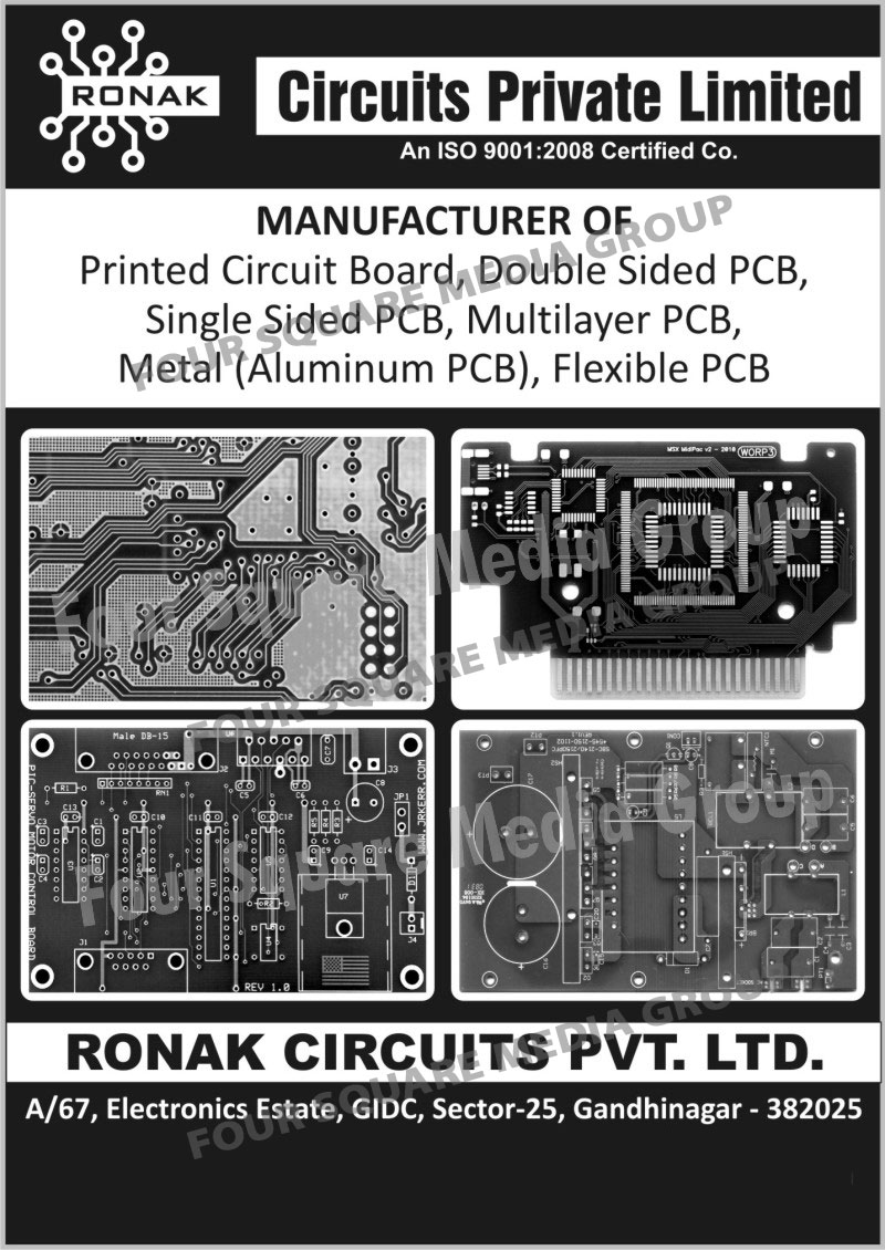 Printed Circuit Boards, Double Sided Printed Circuit Boards, Single Sided Printed Circuit Boards, Multilayer Printed Circuit Boards, Metal Aluminium Printed Circuit Boards, Flexible Printed Circuit Boards, PCB, Double Sided PCB, Single Sided PCB, Multilayer PCB, Metal PCB, Flexible PCB