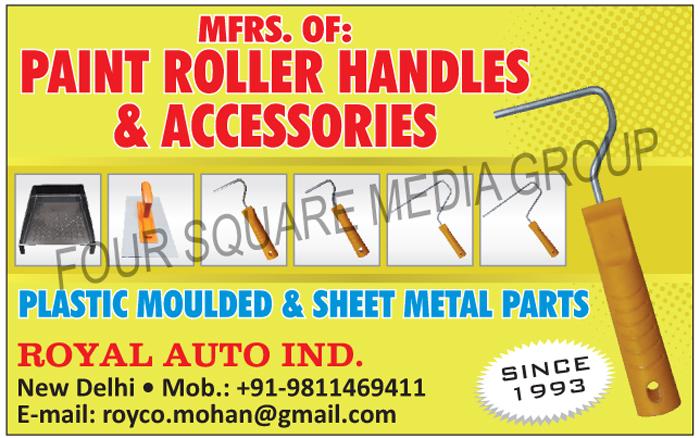 Paint Roller Handles, Paint Roller Accessories, Paint Roller Accessory, Plastic Moulded Parts, Sheet Metal Parts