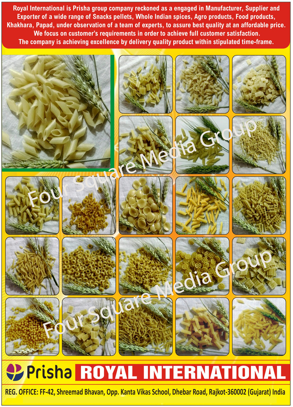 Snack Pellets, Whole Indian Spices, Agro Products, Food Products, Khakhara, Papad, Masala