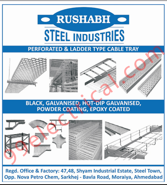 Perforated Type Cable Tray, Ladder Type Cable Tray,Electrical Cable Tray, Epoxy Coated, Hot Dip Galvanised, Powder Coating, Black Galvanised, Perforated Cable Tray, Ladder Cable Tray
