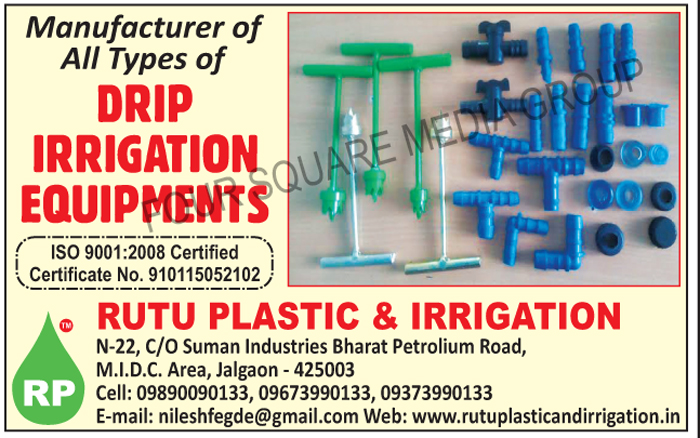 Drip Irrigation Equipments, Dripper, Joiner, Rubber Gromet, Lateral Cock, Drip Tools, Elbow