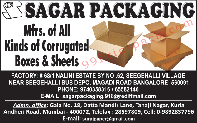 Corrugated Boxes, Corrugated Sheets