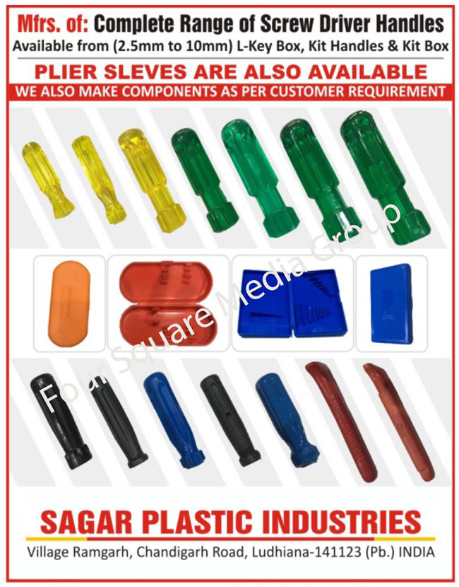 Screw Driver Handles, Plier Sleeves, L Key Boxes, Kit Handles, Kit Boxes