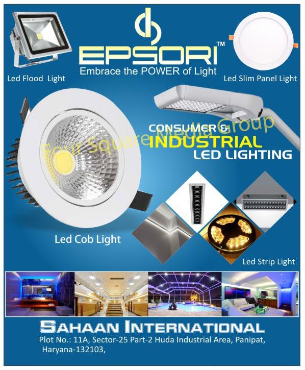 Led Lights, Led Flood Lights, Led Slim Panel Lights, Led COB Lights, Led Strip Lights, Consumer Led Lights, Industrial Led Lights