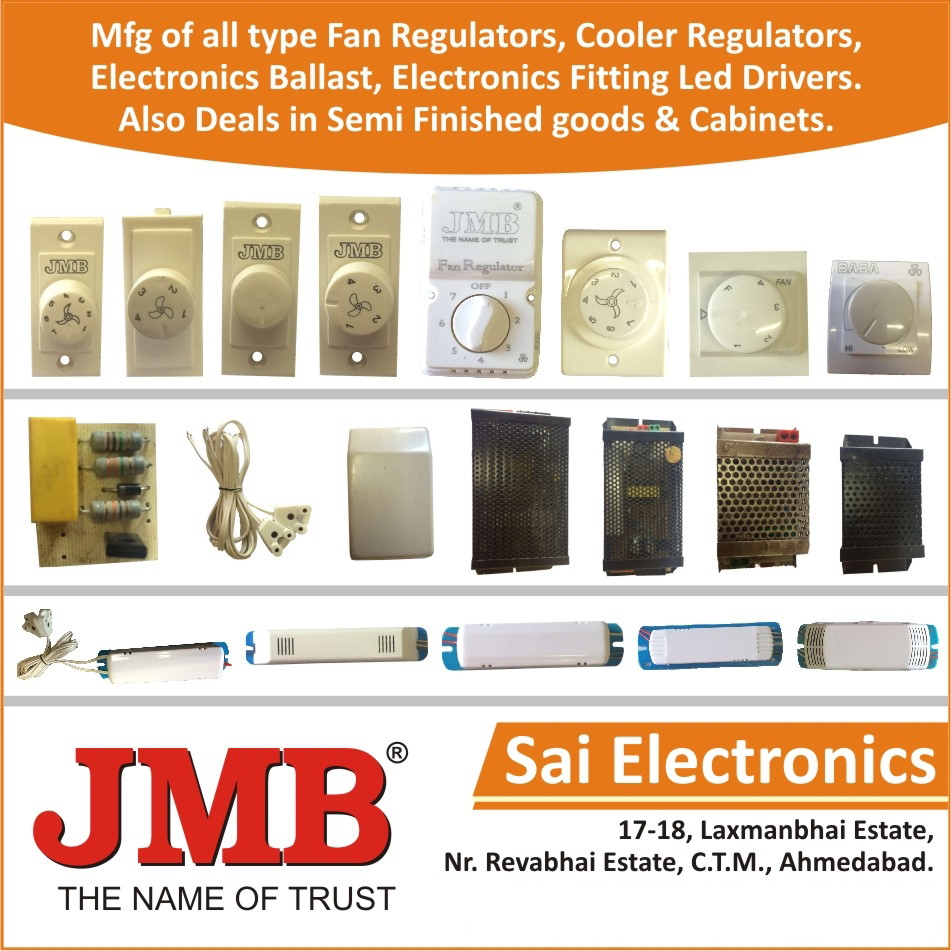 Fan Regulators, Cooler Regulators, Electronic Ballast, Electronic Fitting Led Drivers, Semi Finished Goods, Regulator Cabinets, Choke Cabinets, Electronic Ballast Cabinets, Regulator Circuits, Electronic Ballast Circuits
