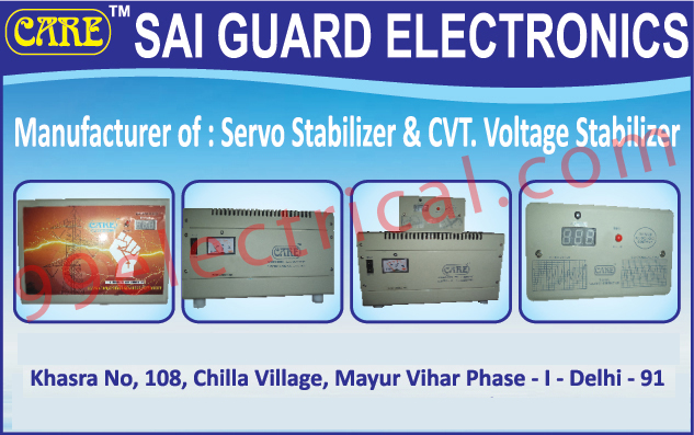 Servo Stabilizers, CVT Voltage Stabilizers,Electrical Products, Stabilizer, UPS