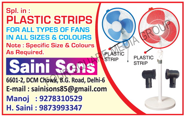 Fan Plastic Strips