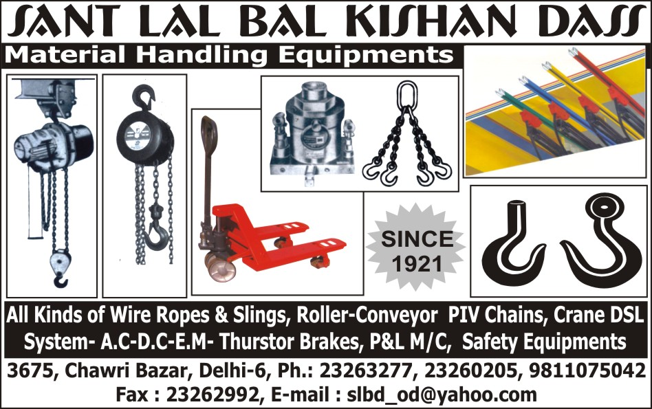Material Handling Equipments | Wire Ropes | Wire Rope Slings ...