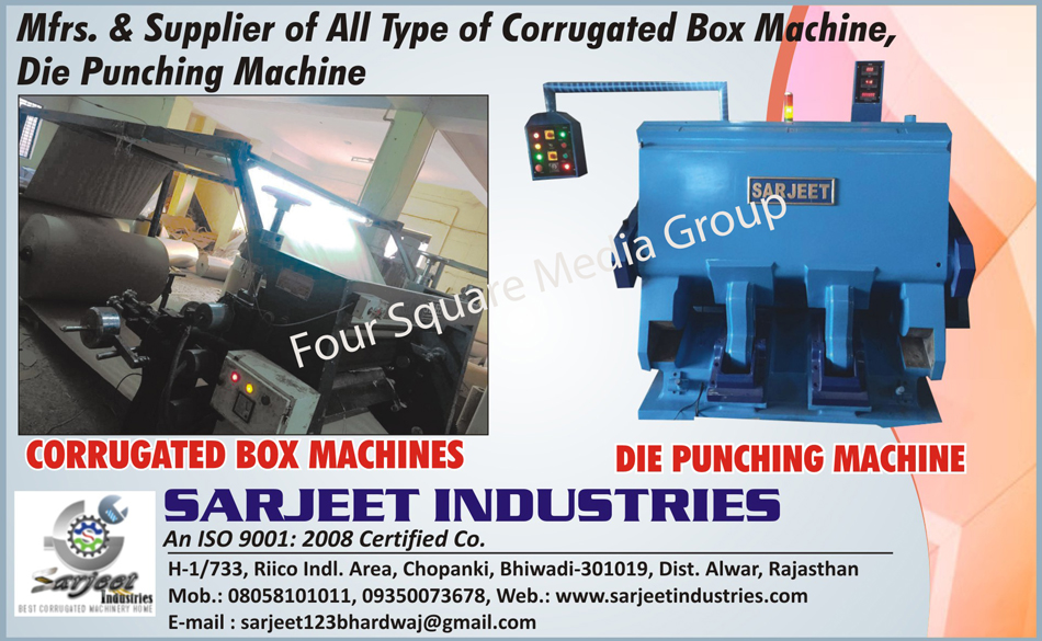Corrugated Box Machines, Die Punching Machines