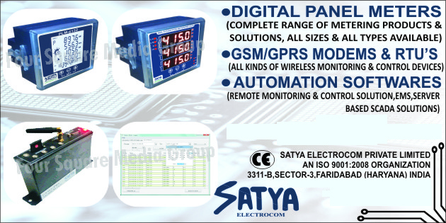 Digital Panel Meters, GSM Modems, GPRS Modems, RTUs, Wireless Monitoring Devices, Wireless Control Devices, Automation Softwares, EMS