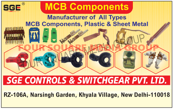 MCB Components, Plastic MCB Components, Sheet Metal MCB Components