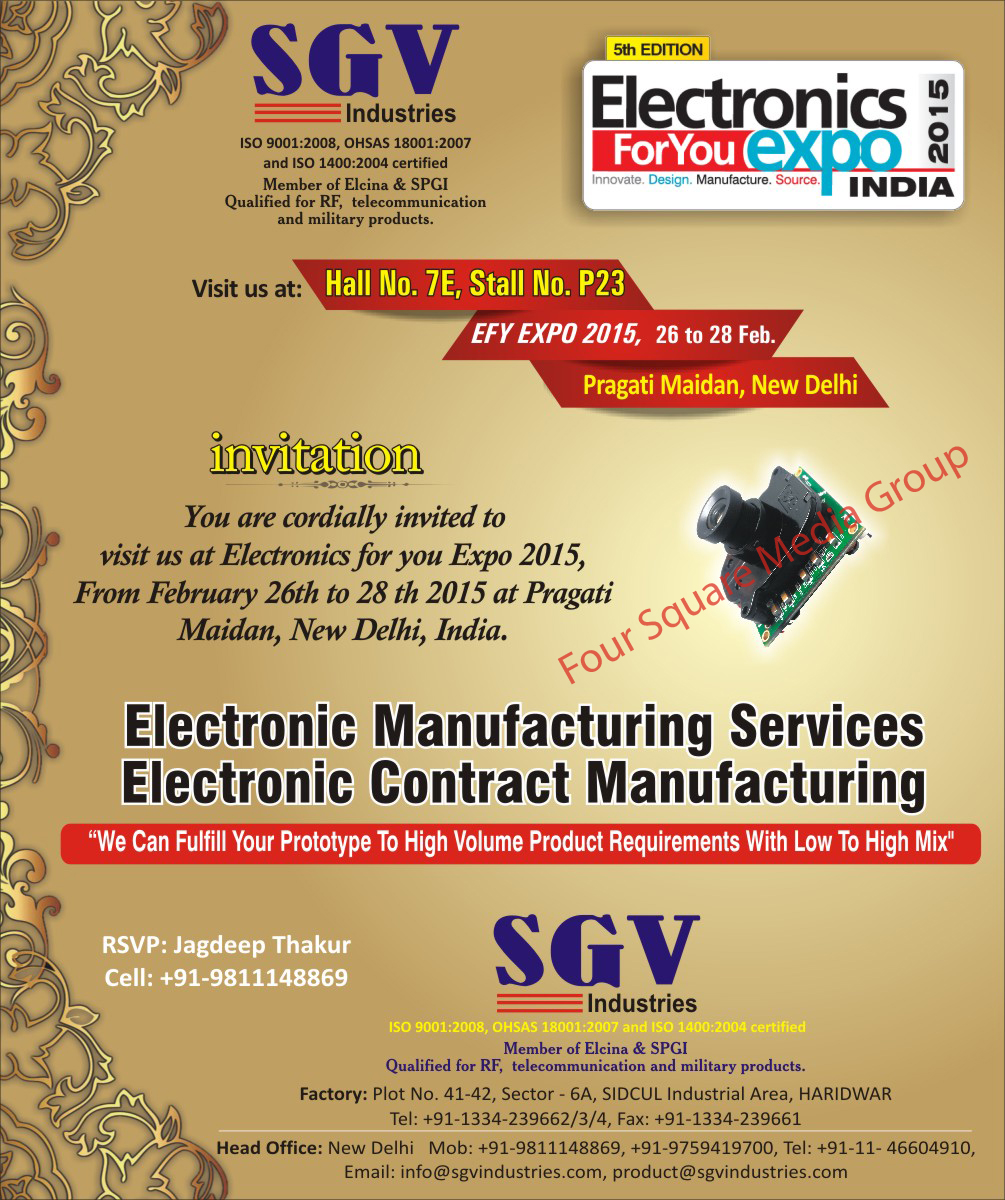 Electronic Services, Electronic Contract, CCTV Camera Main Boards, Camera Sensor, CCTV Solutions,