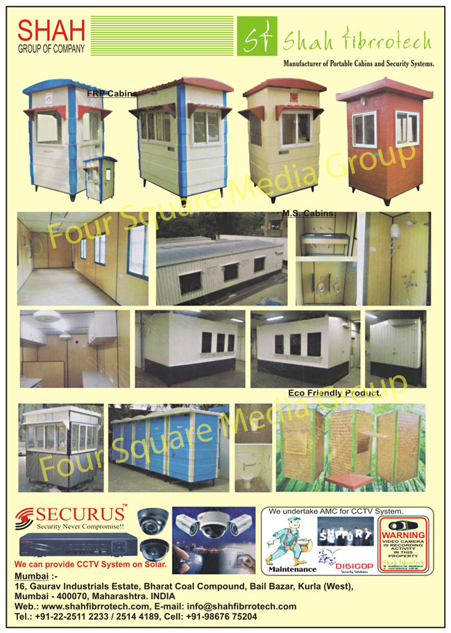 Office Cabin, Accommodation, Toilets, Security Camera, Security Cabin, Bathroom, Toilet, Eco Friendly Products, MS Cabins, Frp Cabins, Portable Cabin, Cabin, Security Systems,Electrical Items
