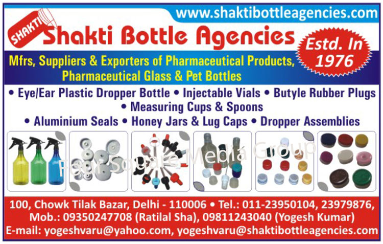 Pharmaceutical Products, Pharmaceutical Glasses, Pet Bottles, Eye Plastic Dropper Bottles, Ear Plastic Dropper Bottles, Injectable Vials, Butyl Rubber Plugs, Measuring Cups, Measuring Spoons, Aluminium Seals, Honey Jars, Lug Caps, Dropper Assemblies,Plastic Bottles, Plastic Products, Plastic Pharmaceutical Products, Caps, Seals, Plastic Self Sealing Caps, Dropping Bottles, Assembled Dropper, Ampule Holder, Amber Glass Bottles, Aluminum Seals