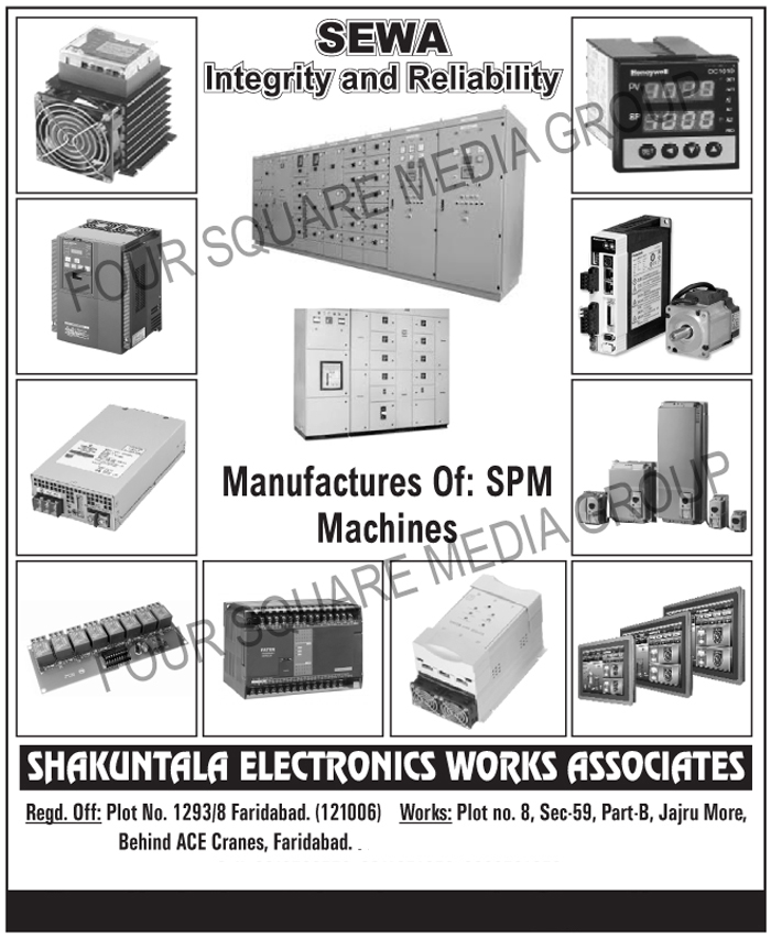 SPM Machines, Special Purpose Machines, Control Panels, Distribution Panels, MCC Panels, PCC Panels