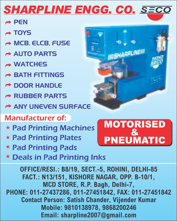 Pad Printing Machines,Printing Plates, Printing Ink, Ink Pads, Motorised Pad Printing Machine, Pneumatic Pad Printing Machine, Handy Printing Machine, Multi Colour Close Up Printing Machine
