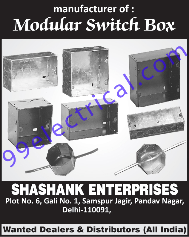 Modular Switch Boxes | Switch Box | Electrical Switch Box ...