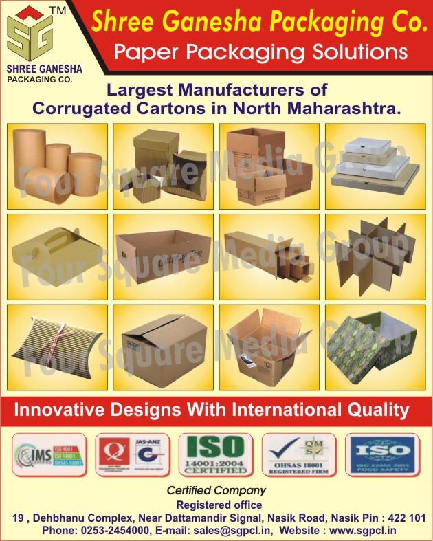 Paper Packaging Solutions, Corrugated Cartons