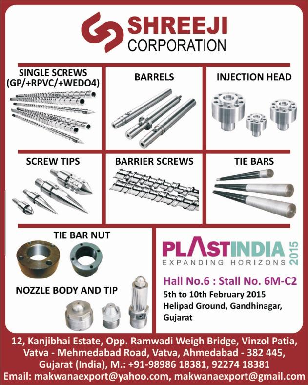 Single Screws, Barrels, Injection Heads, Screw Tips, Barrier Screws, Tie Bars, Tie Bar Nuts, Nozzle Body, Nozzle Tips,Barrels, Screw, Tie Bar Nut