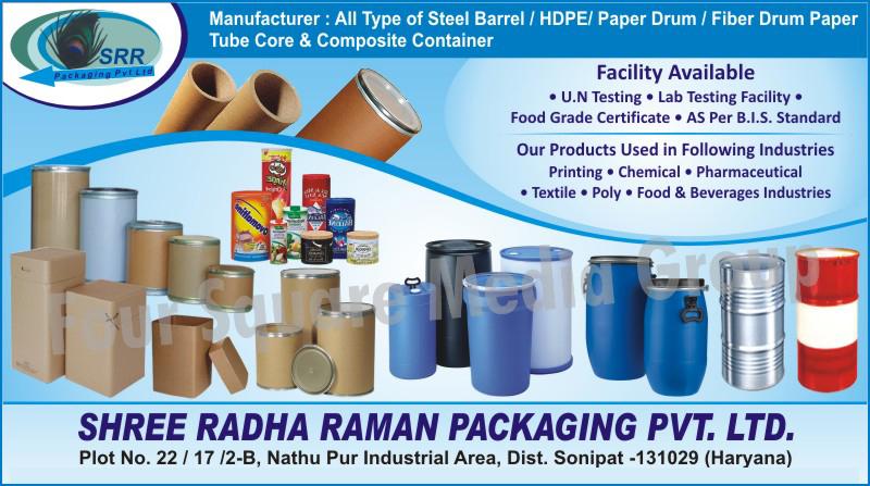 Steel Barrels, Paper Drums, Fiber Drums, Fibre Drums, Composite Containers, HDPE Drums, Paper Tubes, Paper Cores,HDPE, Paper Tube Core, Fiber Drum Paper Tubes, Fibre Drum Core