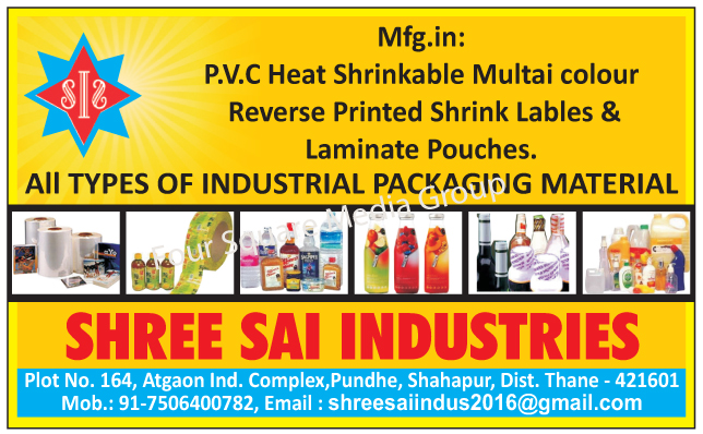 PVC Heat Shrinkable Multi Colour Reverse Printed Shrink Labels, PVC Heat Shrinkable Multi Colour Reverse Printed Laminated Pouches, PVC Heat Shrinkable Multi Color Reverse Printed Shrink Labels, PVC Heat Shrinkable Multi Color Reverse Printed Laminate Pouches, Industrial Packaging Materials