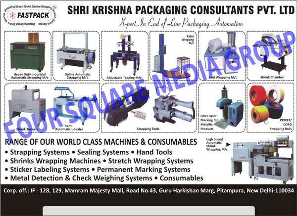 Industrial Strapping Machines, Online Strapping Machines, Adjustable Tapping Machines, Pallet Wrapping Machines, Reel Wrapping Machines, Shrink Chambers, Shrink Tunnels, Semi Automatic L Sealer, Strapping Tools, Fibre Laser Marking For Metallic Products, PP Strapping Rolls, PET Strapping Rolls, CORD Strapping Rolls, High Speed Automatic Shrink Wrapping Machines, Strapping Systems, Sealing Systems, Hand Tools, Stretch Wrapping Machines, Sticker Labelling Systems, Permanent Marking Systems, Metal Detection Systems, Check Weighing Systems, Fiber Laser Marking for Metallic Products