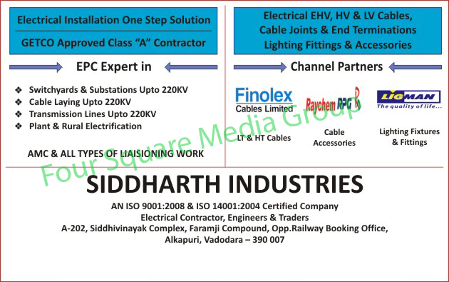 EHV Cables, HV Cables, LV Cables, HT Cables, Cables, Lt Cables, Cable Accessories, Light Fittings, Fixture Fittings, Electrical Cable Accessories, Electrical Installation Contractor, Switchyards, Substations, Cable Laying, Transmission Lines, Electrification Plant, Rural Electrification,