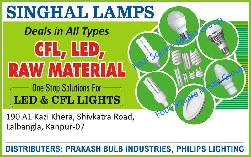 CFL Lights, Led Lights, Bulbs, Led Raw Materials, CFL Raw Materials